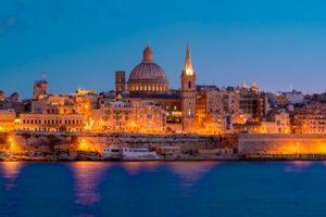Valletta, Malta, di notte