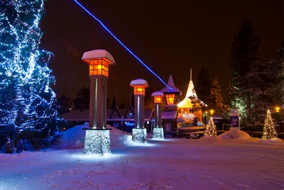 In Villaggio finlandese di Babbo Natale